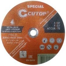 Профессиональный диск отрезной по металлу Т41-230 х 1,6 х 22,2 (10/50/100), CUTOP  SPECIAL