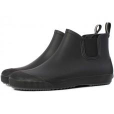 Полусапоги ПВХ мужские, черн/серый, р.45 Beat Nordman (ботинки мужские из ПВХ с эластичной вставкой, черные с серой подошвой,  р.45)
