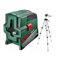 Нивелир лазерный BOSCH PCL 20 со штативом и держателем в кор. (проекция: крест, до 20 м, +/- 10 мм, резьба 1/4