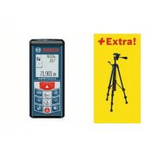 Дальномер лазерный BOSCH GLM 80 + BS 150 в кор. (0.05 - 80 м, +/- 2 мм/м, IP 54, штатив)