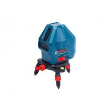 Нивелир лазерный линейный BOSCH GLL 3-15 X в кор. (проекция: 3 луча, угол 90°, до 15 м, +/- 3.00 мм/м, резьба 5/8