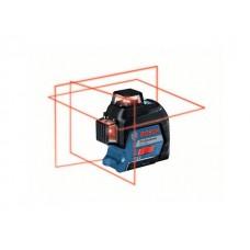 Нивелир лазерный линейный BOSCH GLL 3-80 в чем. (проекция: 3 плоскости 360°, до 120 м, +/- 0.20 мм/м, резьба 1/4, 5/8
